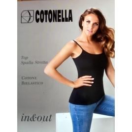 Top Cotonella In&Out colore nero