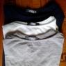 Top Cotonella In&Out colore grigio - bianco - blu