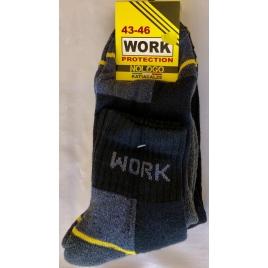 3 Paia di calze da Lavoro, Work, Uomo, altezza caviglia, punta e tallone rinforzati, Spugna di cotone