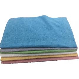 Asciugamani bagno colorati, in tinta unita