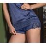 Culotte in raso e pizzo colore BLU