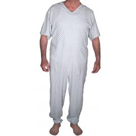 Tutona intera uomo ospedaliera casa di riposo estiva maniche corte