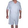 Tutona intera uomo ospedaliera estiva maniche corte pantaloni corti